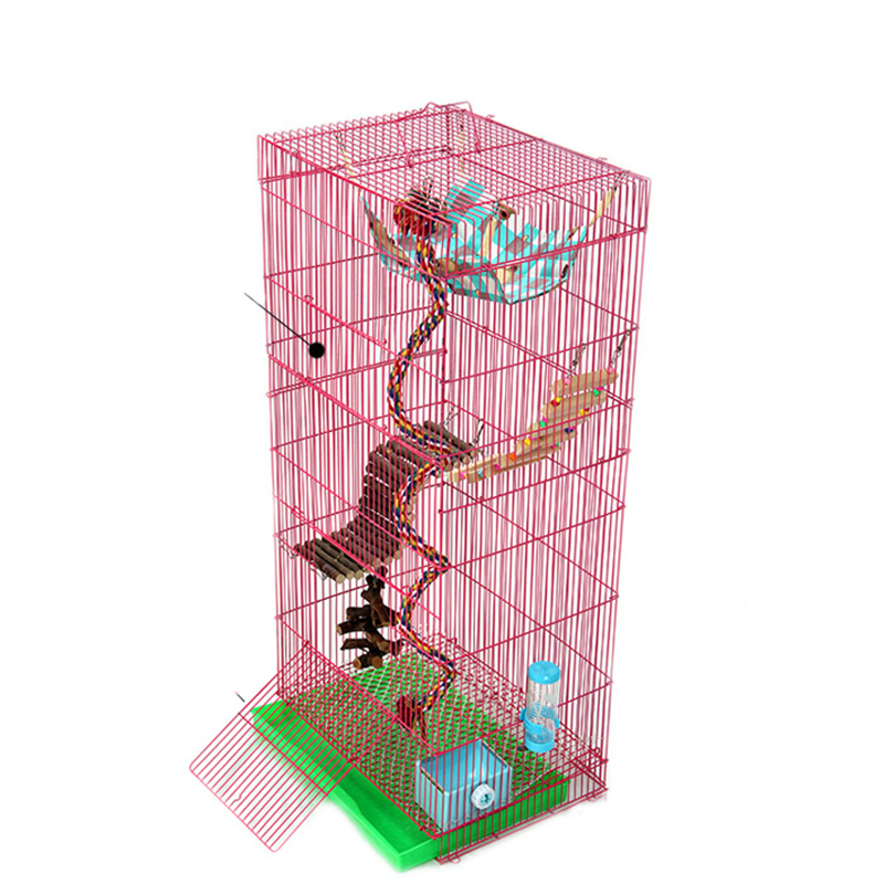 Three-story Dragon Cat Cage Golden Flower Demon King Squirrel Cage Honey Bag    Branch Big Villa Extra