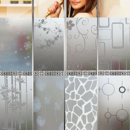 Bedroom Bathroom Home Glass Window Door Privacy Film Sticker PVC Frosted