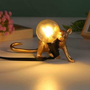 Image 5 - Dreamburgh Nordic Resin Animal Rat Mouse Table Lamp Small Mini Mouse Cute LED Night Lights Home Decor Desk Lights Bedside Lamp