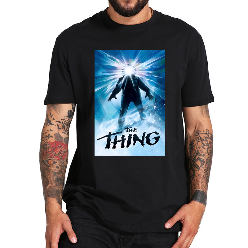 The Thing T Shirt Science Fiction Horror Thriller Movie Poster Adult Shirt Originality High Quality Cotton T-shirt EU Size image