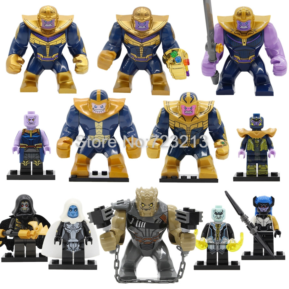 Single Super Heroes Infinity War Thanos INFINITY GAUNTLET Figure Marvel Avengers Building Blocks Set Bricks Toys Legoing