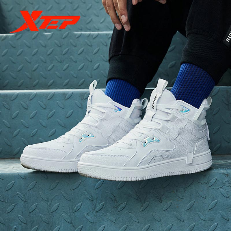Xtep π Series Men High-top Skateboarding Shoe Outdoor Sport Sneakers Men Waterproof Shoes 881319319123