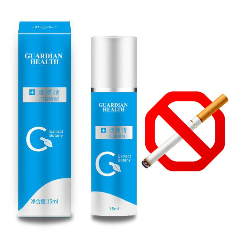 Mouth Oral Spray Quit Smoking Anti Smoke Bad Breath Freshener Treatment Herbal