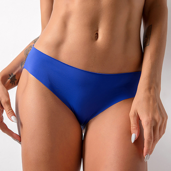 New Fashion Women Soft Underpants Sexy Mid Waist Ice Silk Seamless Lingerie Briefs Underwear Panties For High