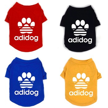 New Summer Dog Clothes Fashion Cotton Printed T-shirt For Pet Dogs Clothing For Small Medium Pets French Bulldog Puppy Costume