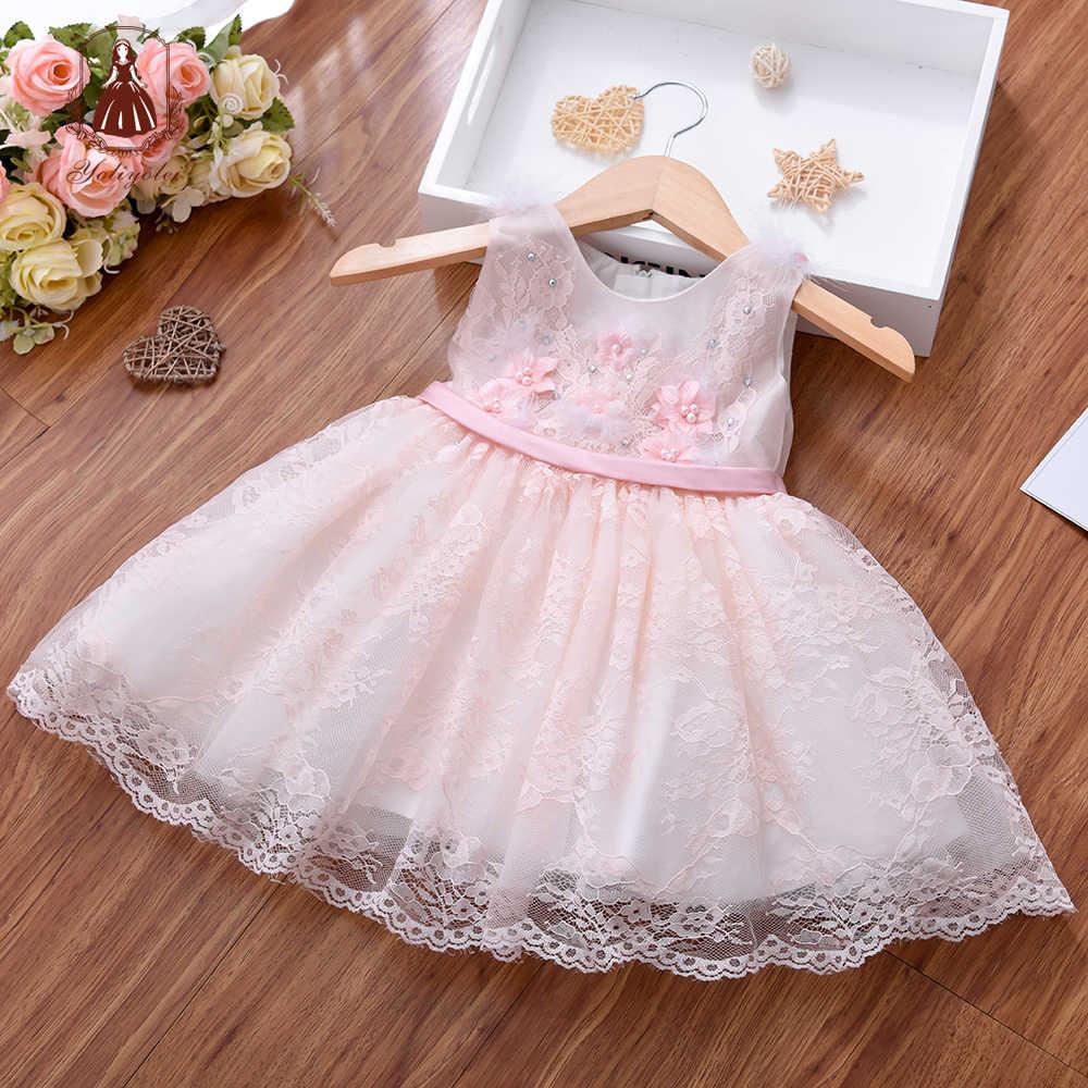 Yoliyolei elbiseler kızlar için prenses elbise çocuk bebek kız balo Parti çocuk elbise çocuk Parti yeni doğan rop giyim
