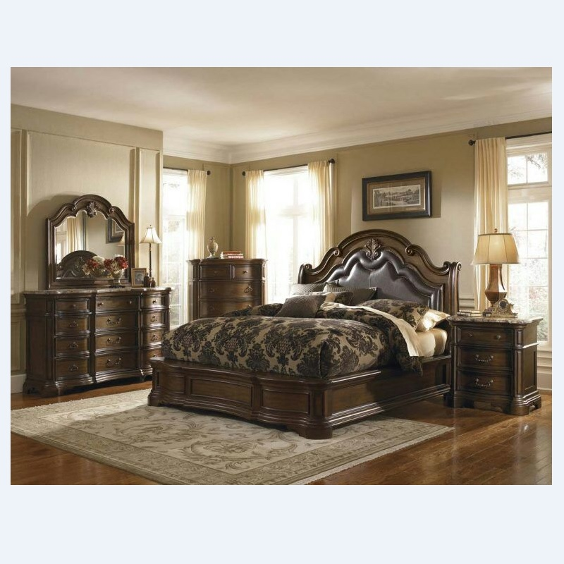 American High Grade Solid Wood Bedroom Furniture Set Leather Bed 316 Bedroom Sets Aliexpress