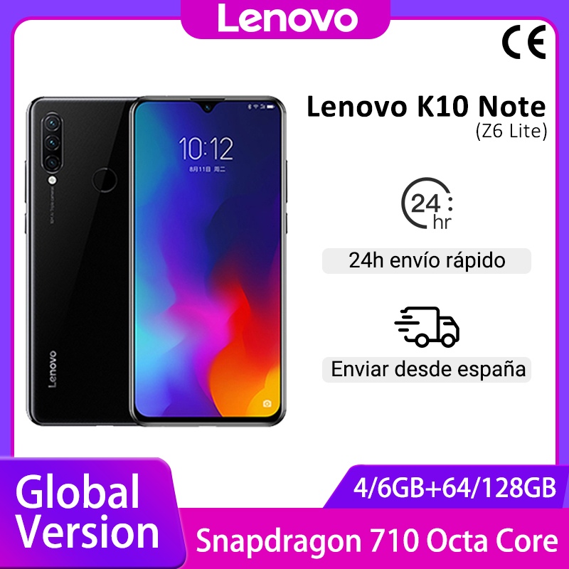Global Version Lenovo K10 Note (Z6 Lite) Smartphone 6GB 128GB Snapdragon 710 6.3 inch Triple Cameras Mobile Phones 4050mAh|Cellphones| - AliExpress