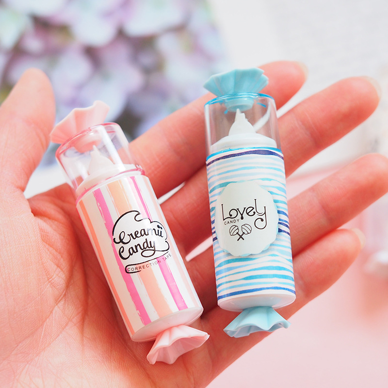 1PCS Creative Correction Tape Lovely Candy Shape Colorful Corrector Tools School Office Supplies Stationery Students Gifts