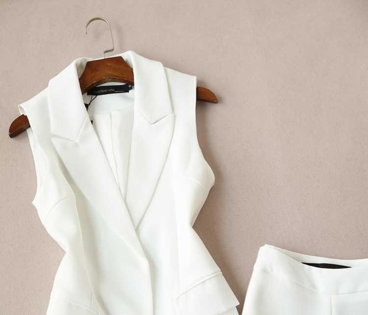 Moda Otoño versión coreana del chaleco dos conjuntos mujeres trajes marea párrafo Oficina señora chaleco pierna ancha pantalones trajes las mujeres