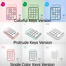Ak18 24g Беспроводная клавиатура с красочными клавишами портативные