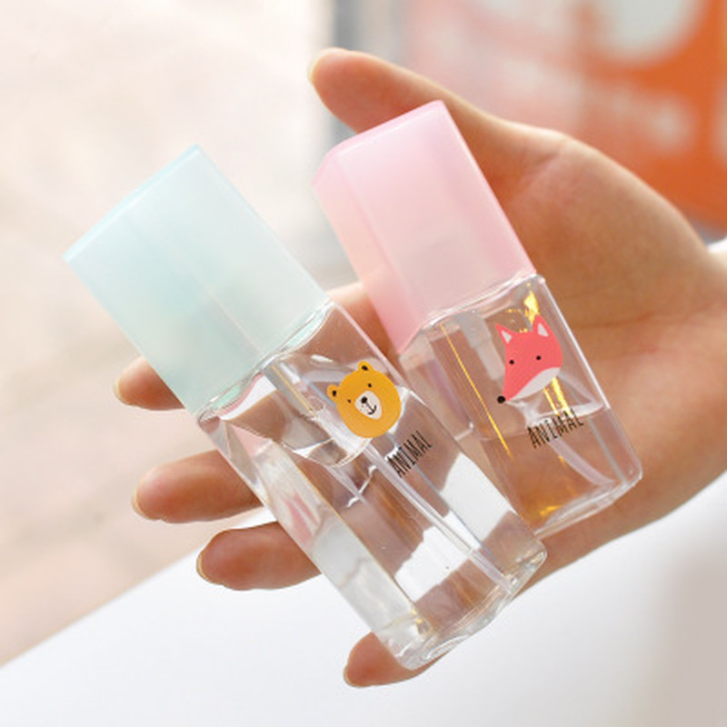 30ML Mini Travel Transparent Cartoon Plastic Spray Refillable Bottle Make Up Skin Care Empty Reusable Moist Perfume Atomizer