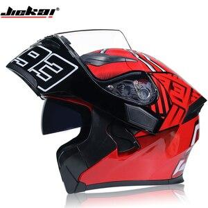 JIEKAI ROT Motorrad Helm Motorrad Motocross Moto Helm Roller Reiten Full Gesicht Helme Casco Motocross Capacete
