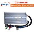 Controlador de onda senoidal do carro elétrico mudo 96 v/108 v/120 v 80a 3000 w inteligente sem escova três-modo universal
