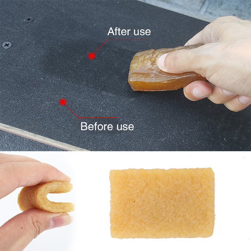 Skateboard Dirt Remover Wear-Resisting Reuse Rubber Canary Yellow Tool Extreme Sports Street Art Pulley Sand Paper