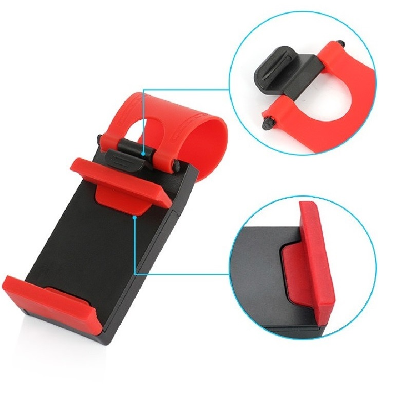 Universal Car Phone Holder Steering Wheel Clip Mount Holder For Iphone 7 For Xiaomi Redmi Note 4x Car Mobile Phone Holder Stand