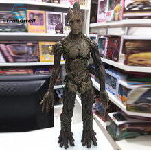 Strongwell Adult Groot Figurine Big Tree Man Model Marvel Guardians Doll The Galaxy Avengers Decoration Decor Kids Toy