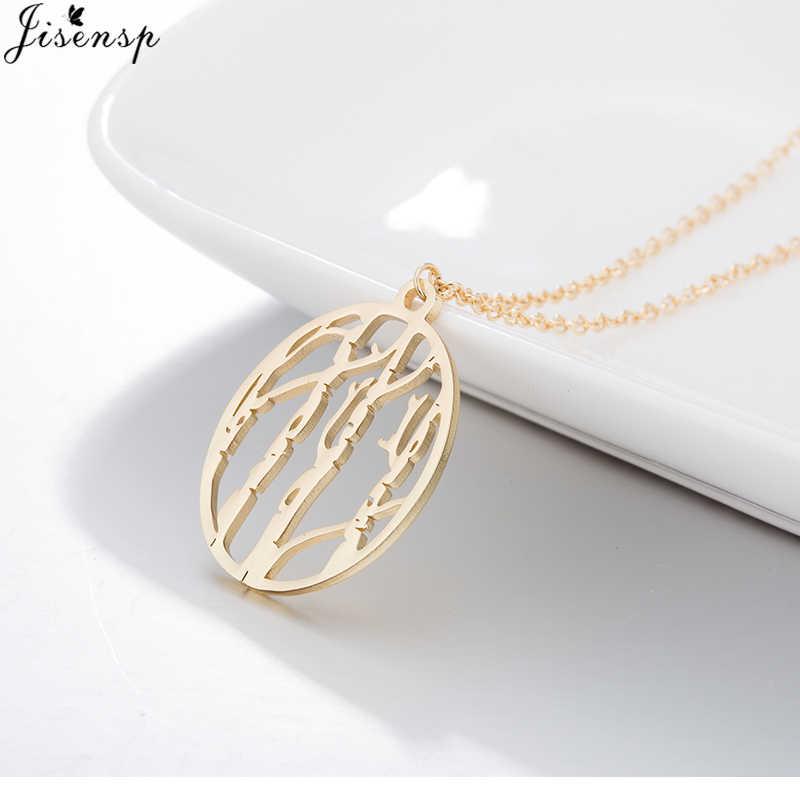 Jisensp unikalne Hollow drzewo życia wisiorek naszyjnik dla kobiet ze stali nierdzewnej las długi naszyjnik łańcuch modna biżuteria na prezent