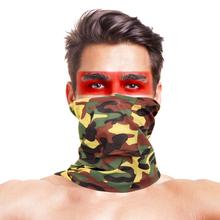 3D Bonic Camo piesze wycieczki szaliki chustka mężczyźni kobiety maska taktyczne odkryty magia nakrycia głowy turystyka sport szyi cieplej chustka szalik tanie tanio LOOGU CN (pochodzenie) Jeden rozmiar Jazda szalik Jazda na rowerze Poliester