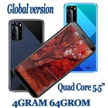 Teléfono Inteligente 7A versión Global, smartphone de 5,5 pulgadas, 4 GB RAM, 64 GB ROM, cámara de 13,0mp, identificación facial, desbloqueado, Quad Core, Android, Wifi, 2SIM