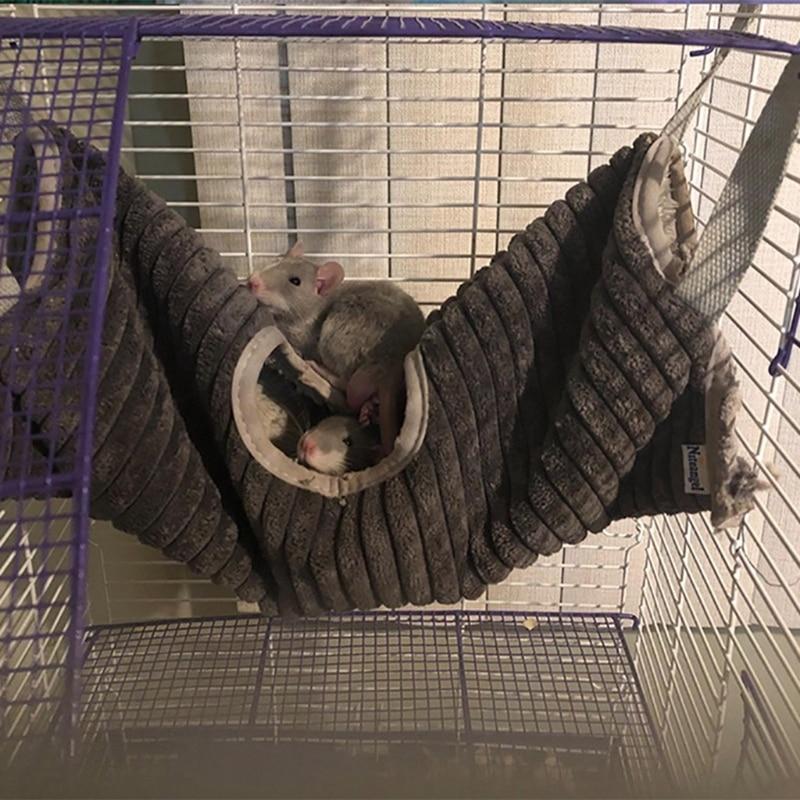 Hamster Tunnel Hammock for Small Animals Sugar Glider Tube Bed Rat Ferret Toy