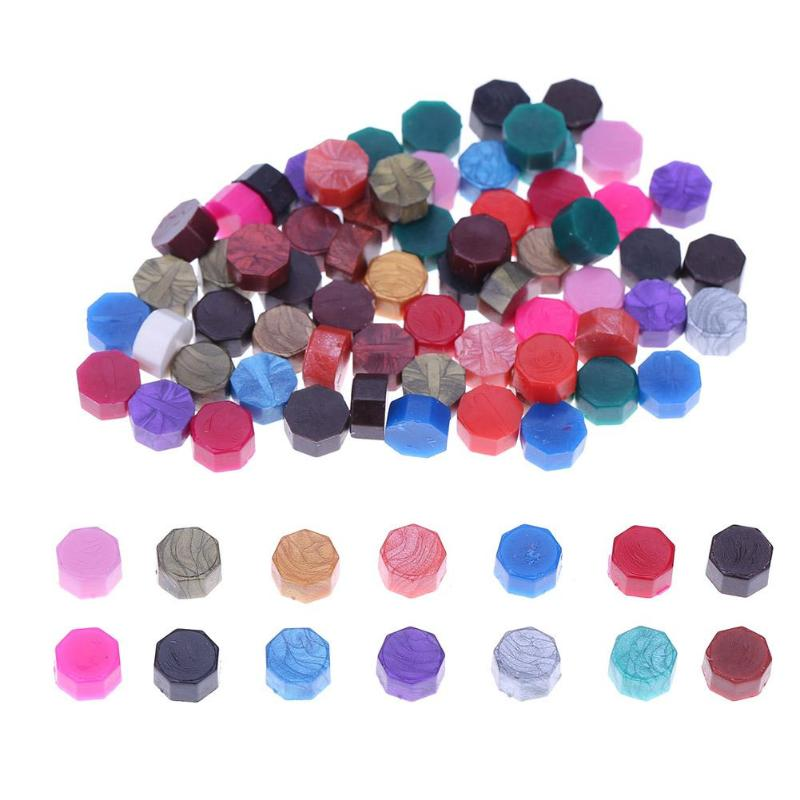 100Pcs/Lot Retro Sealing Wax Beads Wax Seal Stamps For Envelope Documents Wedding Invitation Decorative Supply Seal Wax Tablet