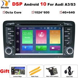 Image 1 - אוקטה Core DSP אנדרואיד 10 רכב DVD GPS עבור אאודי A3 2003 2011 עם DVD נגן רדיו סטריאו אודיו אוטומטי מולטימדיה מסך ניווט