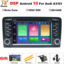 Octa Core DSP Android 10 CAR DVD GPS For Audi A3 2003 2011 with dvd player radio stereo Audio auto multimedia screen navigation