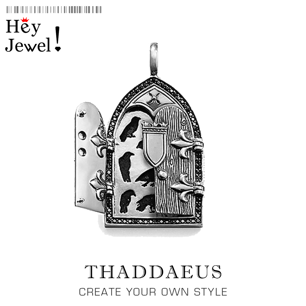 Pendant Crow Window Vintage,2020 Spring Fashion Jewelry Thomas Ts Bijoux Rebel Street 925 Sterling Silver Gift For Woman & Men