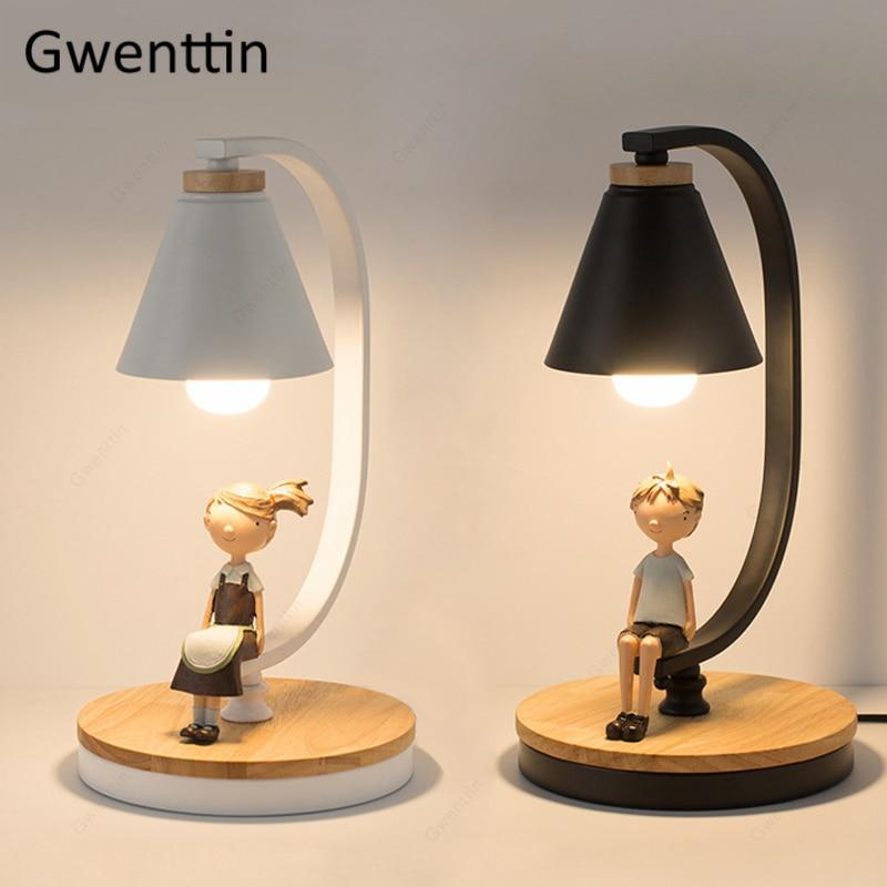 Nordic Table Lamp for Boy Girl Standing Desk Light Bedroom Bedside Lamp Home Decoration Modern LED Light Fixtures Loft Luminaire
