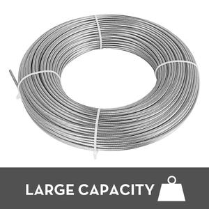 Image 2 - VEVOR 304 кабель из нержавеющей стали 0,18 дюймов 7X19 стальная проволочная веревка 100 футов стальной кабель для перил настил DIY балюстрада