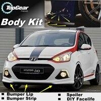 Hyundai Atos için Eon ÖN TAMPON/ön Spoiler İçİn üst dişli arkadaşlar araba Tuning görünüm/vücut kiti/şerit etek|Ön Etek|Otomobiller ve Motosikletler -
