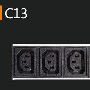 Image 2 - C13 Protection contre les surcharges industrielle 2M prise dextension 4 prise ca prise ue 16A 250V alliage daluminium PDU multiprise