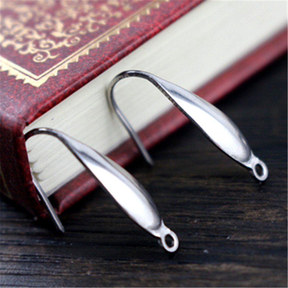 (NO Fade) 20*10mm 20pcs/Lot 316 Stainless Steel High Quality Earring Hooks Wire Settings Base Settings Whole Sale