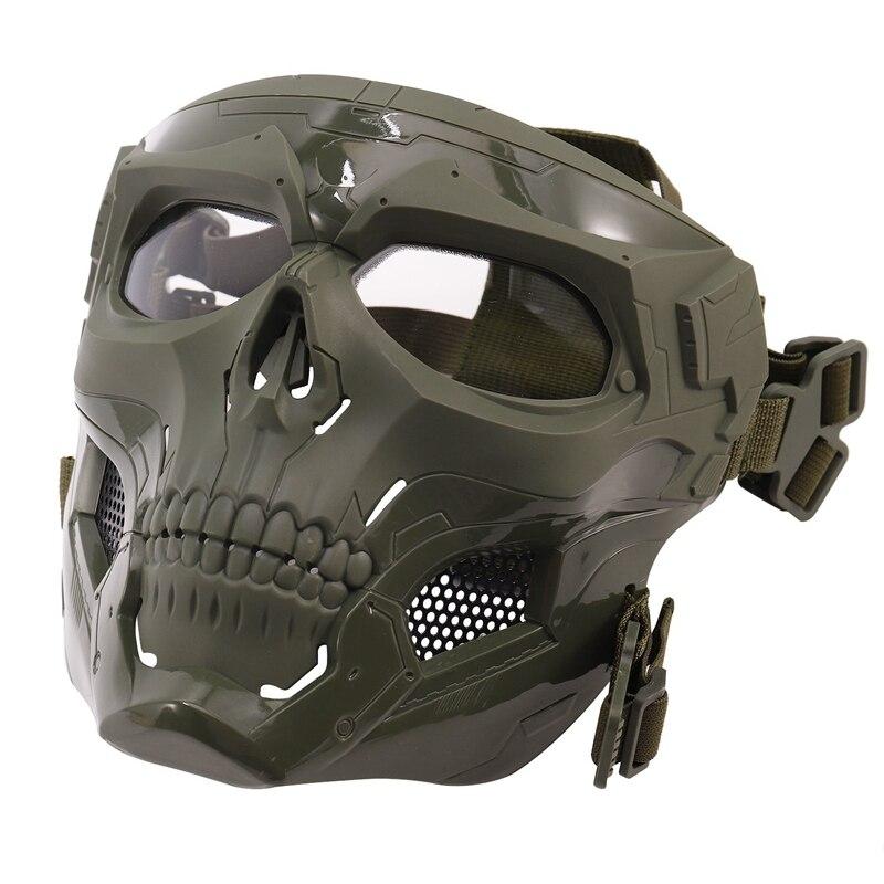 Crânio máscara rosto cheio capacete máscara horror