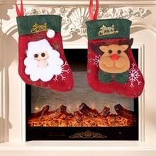 цена на Christmas tree pendant Santa Claus little socks Christmas tree pendant Christmas gift bag Santa snowman socks