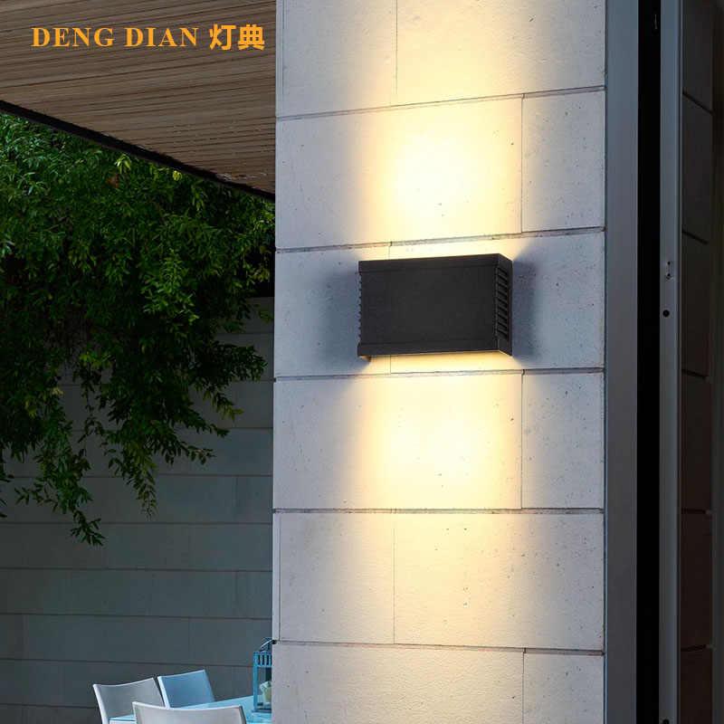 الحديثة صعودا وهبوطا Led الألومنيوم الجدار مصباح IP65 حديقة الجدار أضواء في الهواء الطلق إضاءة للتزيين للباب الأمامي شرفة المدخل
