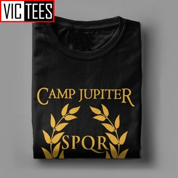 Men SPQR T-Shirt Camp Jupiter Rick Riordan Percy Jackson T Shirt Men Summer Style Tops Funny Cotton Tees 4