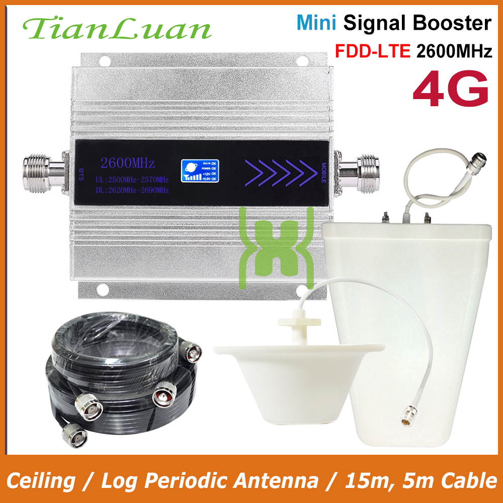 TianLuan 2600MHz FDD LTE 4G Cellular Signal Booster 2600 B7 4G Network Data Boosters Mobile Phone Repeater Amplifier Band 7