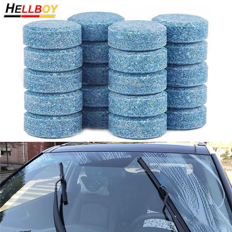 20/50pcs Car Wiper Windshield Washer Fluid Glass Cleaning Tablets For Audi A4 B7 B8 A5 A3 8V 8P A6 C6 C5 Q2 Q3 Q5 SQ5 8U Q7 TT