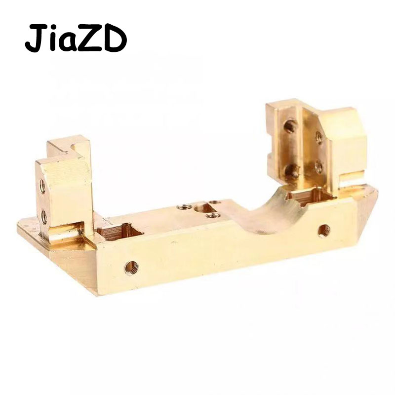 Image 4 - 1PCS TRX4 Brass Front Bumper with Servo Mount 114g for RC Car Traxxas TRX 4 1/10 Scale and Trail Crawler Parts A11Parts & Accessories   -