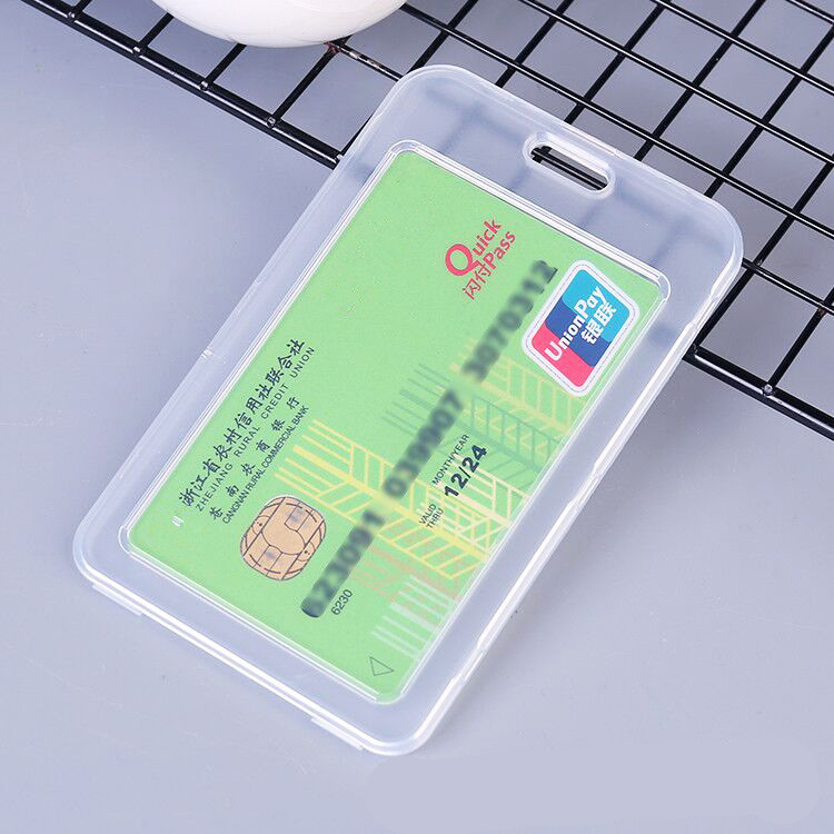 1PCS Women Men Clear Protector Credit Card Cover Plastic Transparent Bank Bus ID Credit Card Holder Bags Case