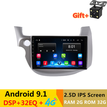 "10.1"" Android 9.1 Car DVD Multimedia Player GPS For honda fit jazz 2008 2009-2013audio car radio stereo navigator bluetooth wifi"