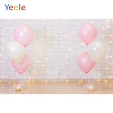 Yeele Balloons Brick Wall Decorative Light Birthday Photography Backgrounds Customized Photographic Backdrops for Photo Studio