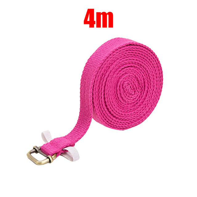 4m Yoga Toning Band Gear Belt Fitness Cotton Stretching Sweat absorption 2
