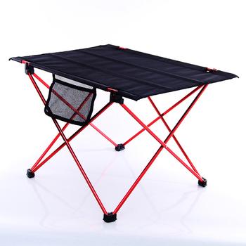 Przenośny stół składany Outdoor Camping Ultralight stół aluminiowy grill piknik 6061 piesze wycieczki biurko wędkarstwo Ultra lekkie składane biurko tanie i dobre opinie HAIMAITONG CN (pochodzenie) Minimalist Modern Assembly Rectangle 56x42x37 cm Outdoor Table Outdoor Furniture Fabric Salad Table