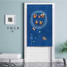 Японская Ukiyo-E льняная дверная занавеска синяя висячая ширма Сова на ветке шторы для спальни, кухни украшение дома входная занавеска