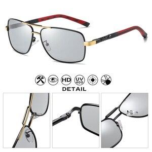 Image 5 - نظارات شمسية للجنسين بلورية مستقطبة للرجال للخارج للقيادة عدسات تلون مضادة للوهج نظارات واقية zonnebril heren