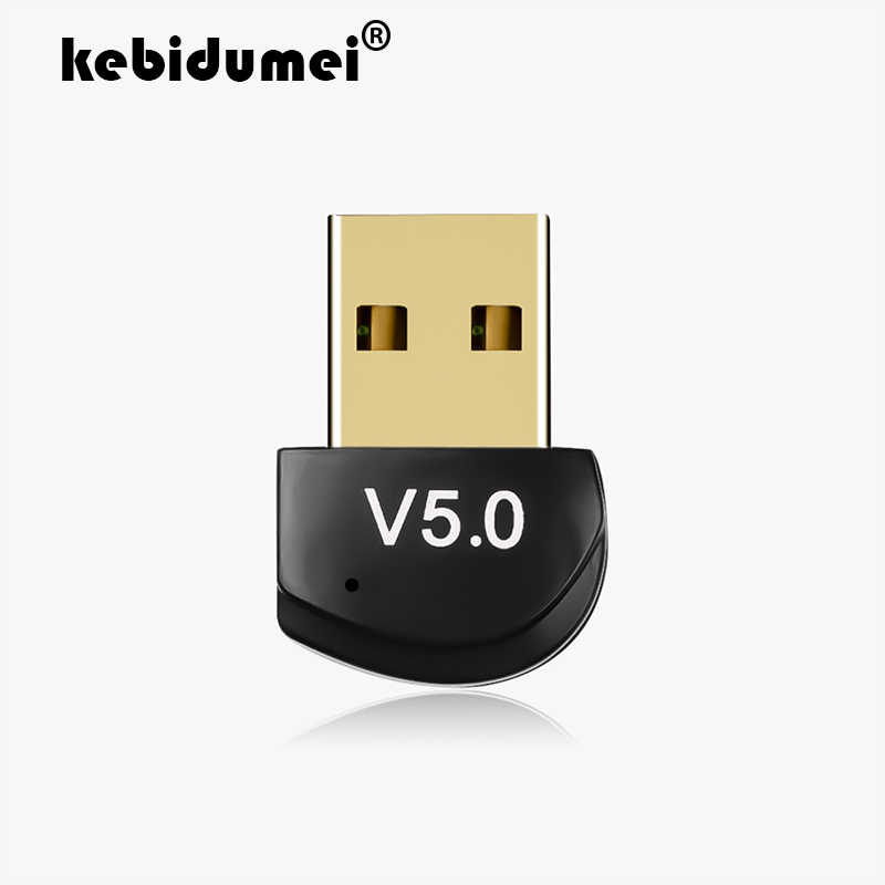 Kebidumei Mini BT 5,0 adaptador USB Dongle inalámbrico USB Bluetooth transmisor 5,0 receptor de música adaptador Bluetooth para ordenador