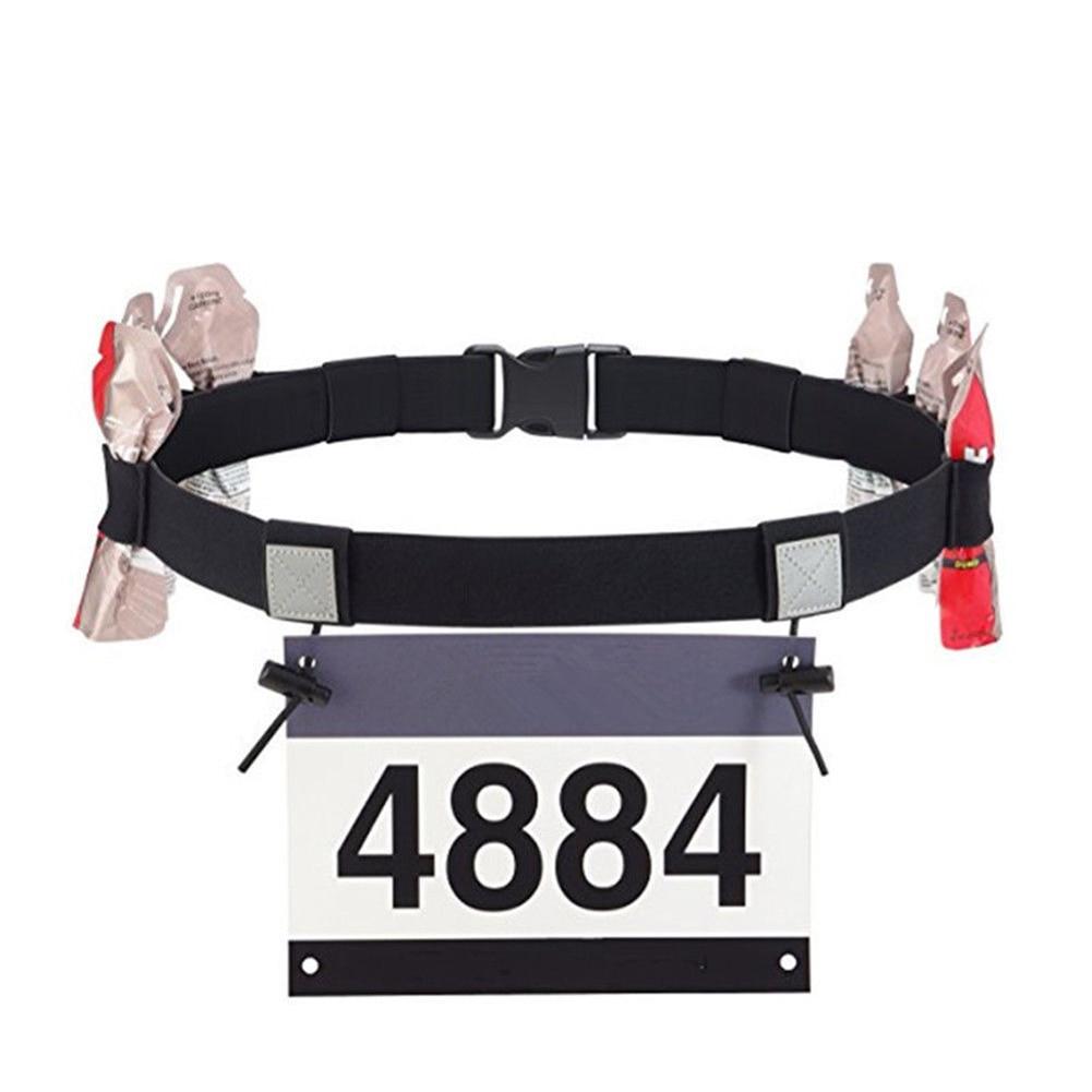 Holder Waist Pack Polyester Outdoor Bib Running Race Unisex Sports Triathlon Number Belt Reflective Motor Cycling